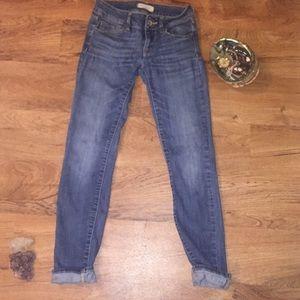 Bullhead black size 0 skinny jeans